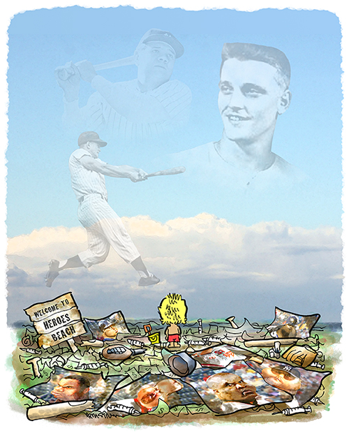 kid seeing ghostly images of forgotten baseball hero Roger Maris in sky