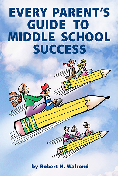 flying pencils cover illustration for book about helping middle school students achieve success