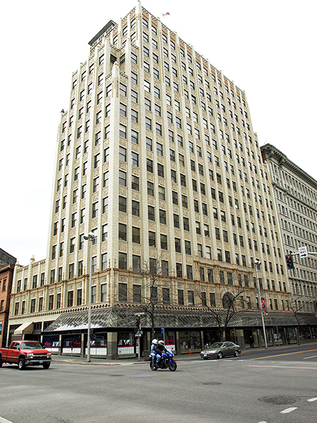 photograph of Paulson Building in downtown Spokane, WA