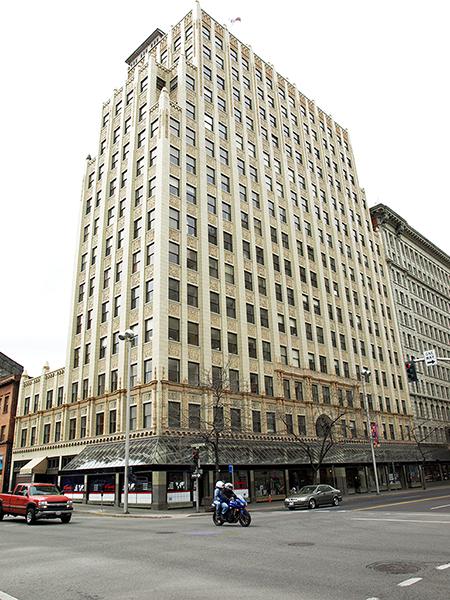 photograph of Paulson Building in downtown Spokane, WA