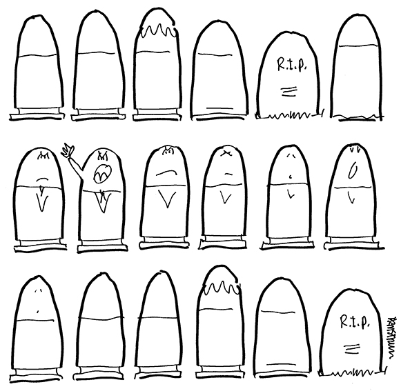 bullet to grave inspired by Tucson shooting line drawing amended in Photoshop