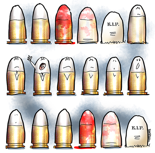 Six Little Bullets Standing In A Row Mark Armstrong Illustration Specializing In Content Marketing Advertising Editorial Infographics Animation Videos And Social Media