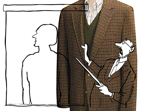 using a photo of a tweed sportscoat to add a tweed pattern to an illustration in Photoshop