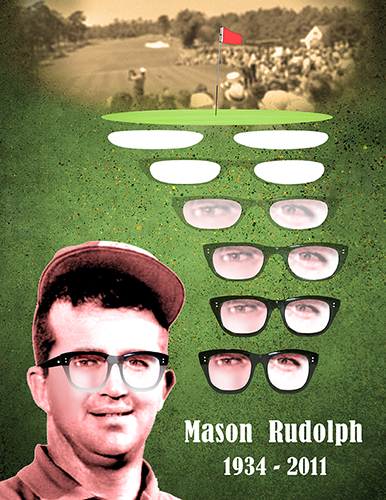 Mason Rudolph tribute illustration with old tinted photo added along with text