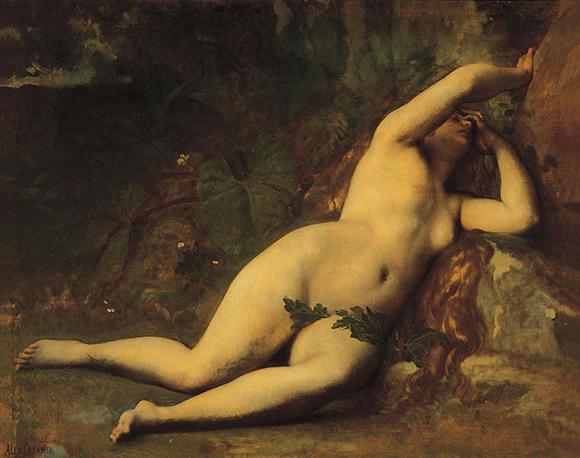 "Wikimedia Commons image of ""Eve After The Fall,"" a painting by Alexandre Cabanel which is now in the public domain"