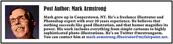 footer for all future blog posts showing picture of blog author Mark Armstrong, along with short bio and contact information