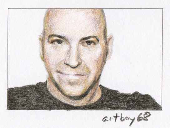 portrait drawn by Canadian artist Scott Hamilton, aka Artboy68, done in colored pencil