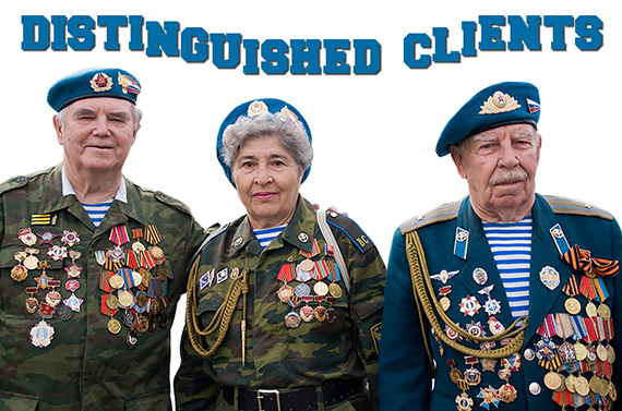 old soldiers wearing many combat medals used for Distinguished Clients graphic on Mark Armstrong blog About Page