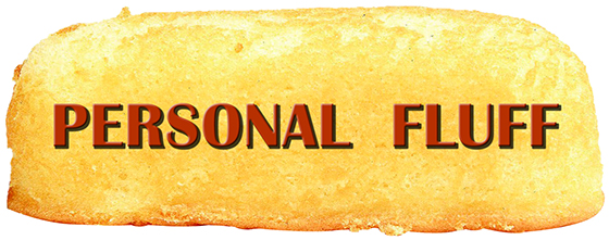 large Hostess Twinkie used for personal fluff information graphic on Mark Armstrong blog About Page