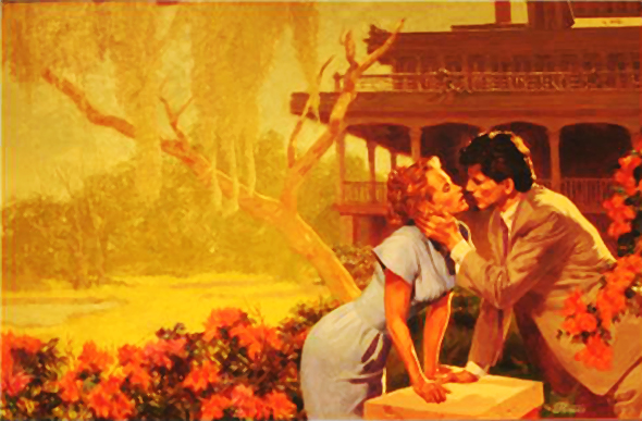 Harlequin Romance Book Cover ~ The wonderful paperback book cover art of illustrator