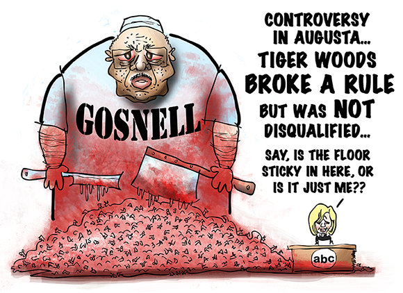 editorial cartoon about philadelphia abortionist Kermit Gosnell currently on trial for murdering babies after they were born and conducting illegal late-term abortions over four decades and how public officials did nothing and how the media has virtually ignored the trial because most reporters and media people are pro-abortion