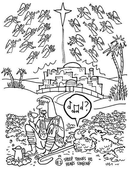 heavenly host of angels coloring pages | Do You Hear Somebody Singing Alleluia, Or Is It Just Me ...