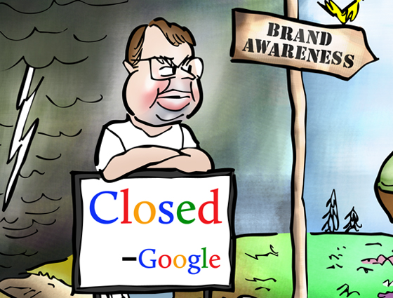 detail image for ClickZ illustration guest blogger choosing path toward brand awareness Matt Cutts Google blocking road to spam to boost SEO and page rank