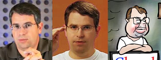 Two photos and caricature of Google spam watchdog SEO page rank expert Matt Cutts