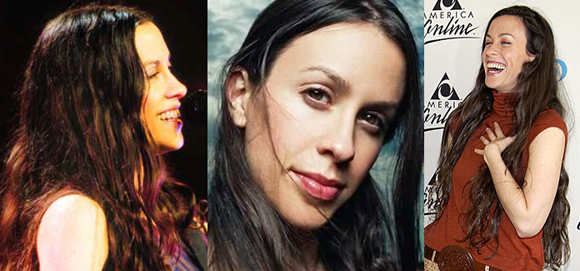 photographs of Canadian singer songwriter Alanis Morissette