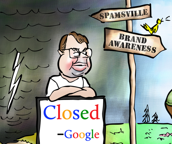 detail image fork in road Matt Cutts Google anti-spam fighter blocking road to Spamsville guest blogger no longer able to write worthless posts with backlinks