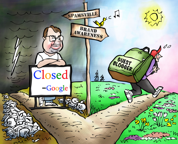 fork in road Matt Cutts Google anti-spam fighter blocking road to Spamsville guest blogger no longer able to write worthless posts with backlinks