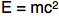 Einstein's Theory of Relativity equation E = m c-squared