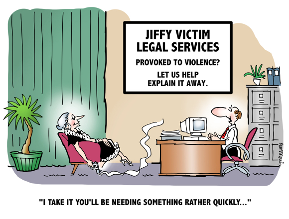 Woman with smoking gun in lawyers office Jiffy Victim Legal Services we explain away violence need quick response