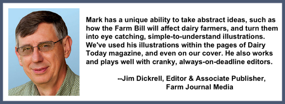 Recommendation testimonial for Mark Armstrong Illustration from Jim Dickrell editor associate publisher farm journal media