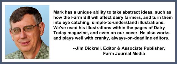 Recommendation testimonial for Mark Armstrong Illustration from Jim Dickrell editor associate publisher farm journal media