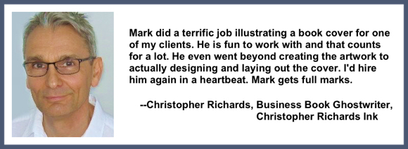 Recommendation testimonial for Mark Armstrong Illustration from Christopher Richards, business book ghostwriter, Christopher Richards Ink
