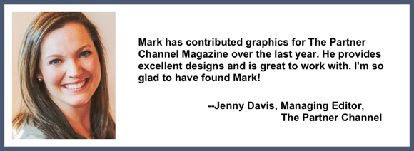 Recommendation testimonial for Mark Armstrong Illustration from Jenny Davis, Managing Editor, The Partner Channel
