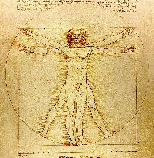 Leonardo da Vinci's famous sketch of Vitruvian Man