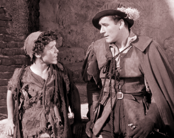 still from Prince Pauper movie starring Errol Flynn
