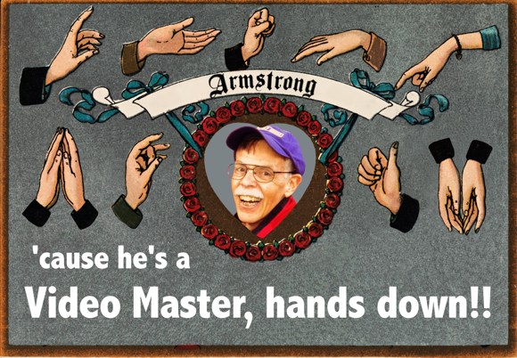 Mark Armstrong photo in heart hands expressing sign language he's a video master hands down