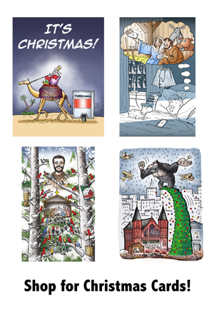 Shop for Christmas cards 4 samples for WordPress blog sidebar widget