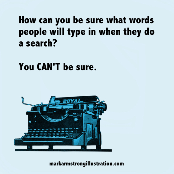 You can't be sure what words people will use for a search old Royal typewriter